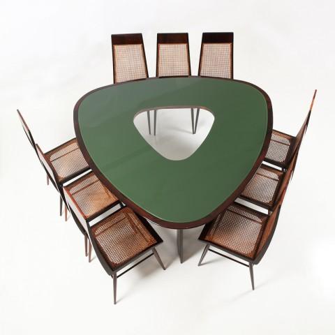 Table, chaises, Cruz, Galerie James