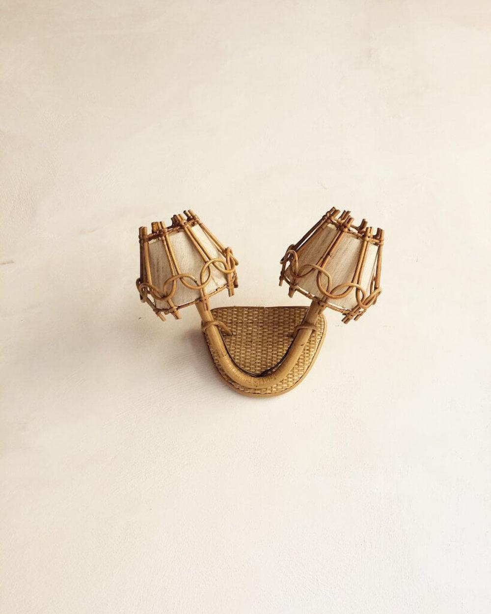 Applique en rotin, collection vintage, Atelier Vime
