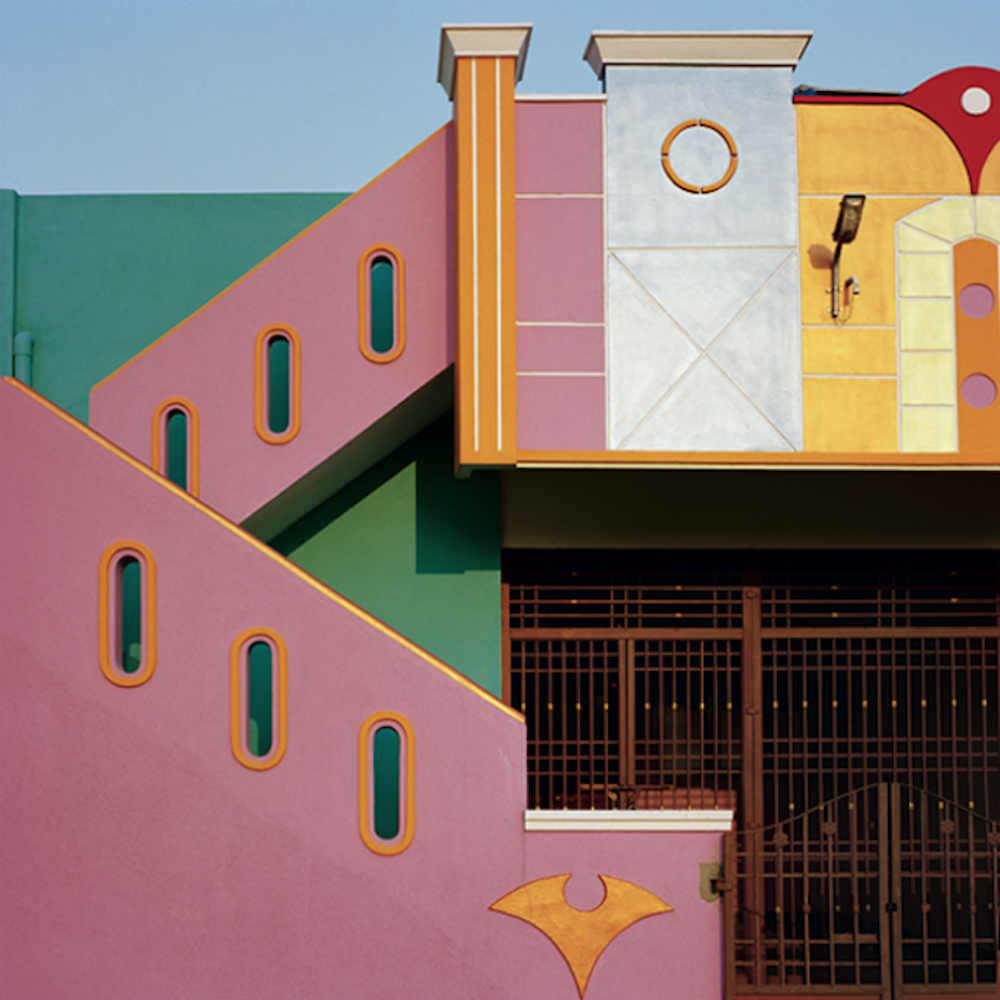 Architecture des maisons peintes dans la région de Tiruvannamalai au sud de l'Inde, photo Vincent Leroux