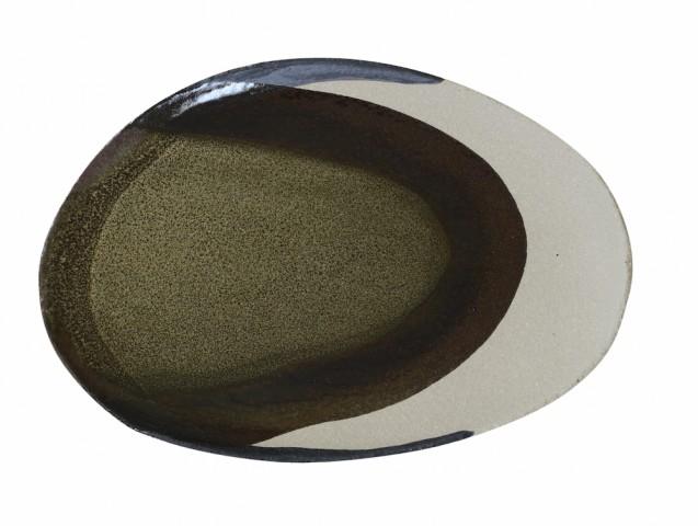 """Assiette """"wabi"""" en grès,  Jars Céramiste"""
