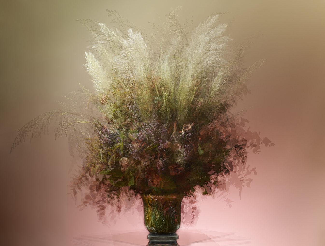Bouquet composé par Pierre Banchereau, fleuriste Debeaulieu pour l'exposition  de photographies