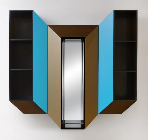 Cinétisme IV cabinet mural  pour la Galerie BSL