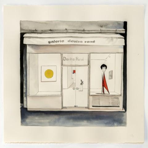 Galerie Denise René Encre sur papier