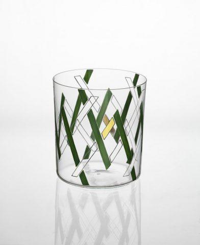 Gobelet en cristal Noé peint à la main design Martino Gamper Lobmeyr