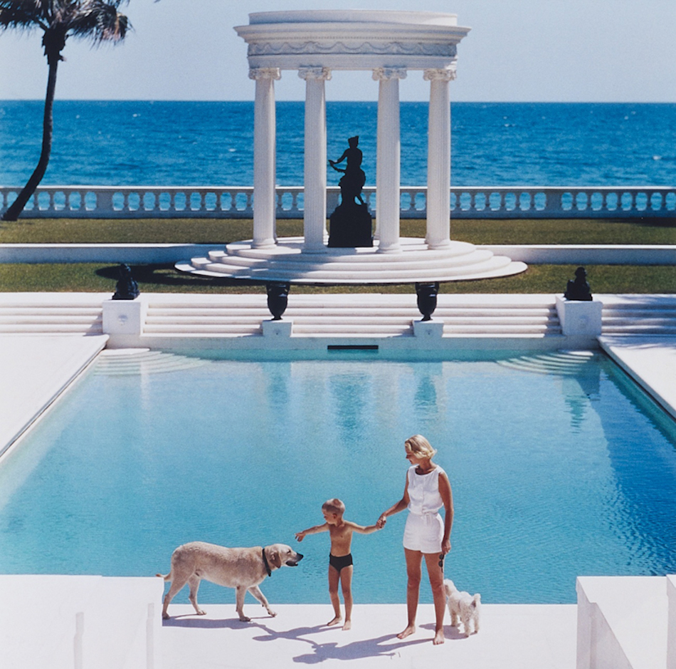 Photo Slim Aarons Villa Artemis à Palm Beach 1955 Floride