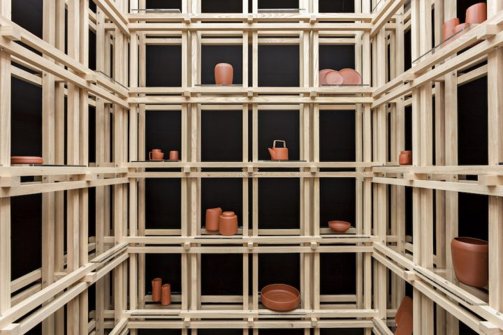 Poteries the Tea house de Christopher Jenner pièces en céramique de Yixing in Eastern China's Jiangsu Province. ® Michael Franke