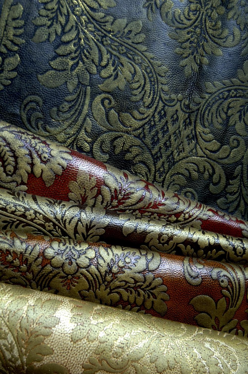 Revêtement Courcelles cuir de synthèse imprimé, pose murale et sol, Zuber