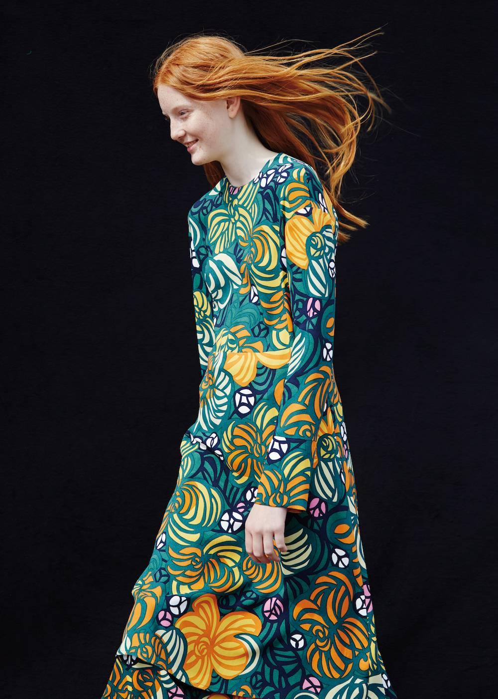 Robe coton imprimé Amélie Torstai Marimekko