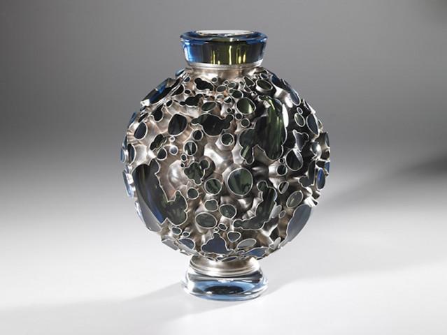 Sculpture Steel Blue Flame, Michael-Glancy, Clara Scremini Gallery