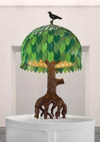 Tiffany Tree Lampe bronze poli patiné, peint à la main, LED, design STUDIO JOB, Carpenters WorkShop Gallery