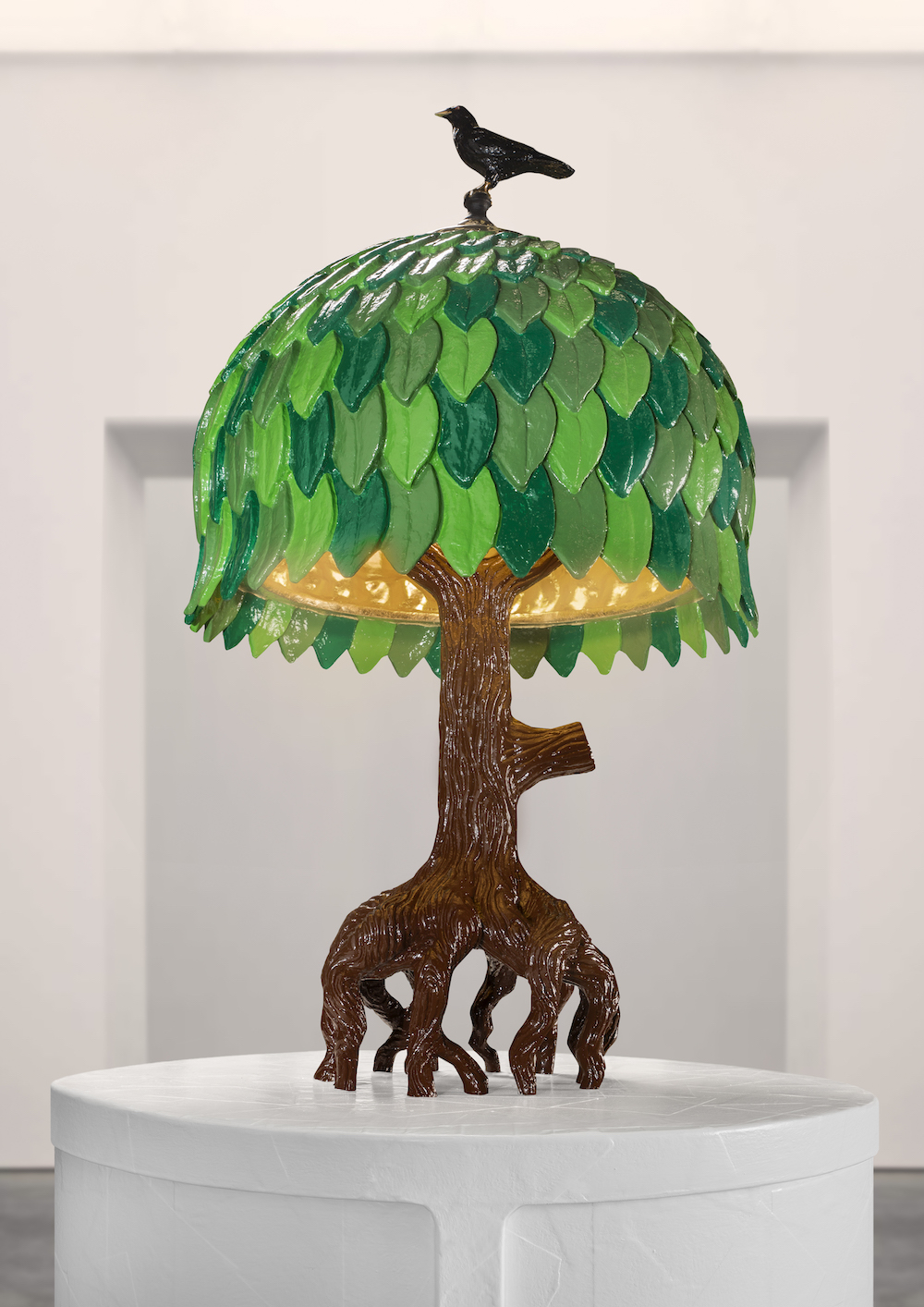 Tiffany Tree Lampe bronze poli patiné, peint à la main, LED, design STUDIO JOB, Carpenters WorkShop Gallery