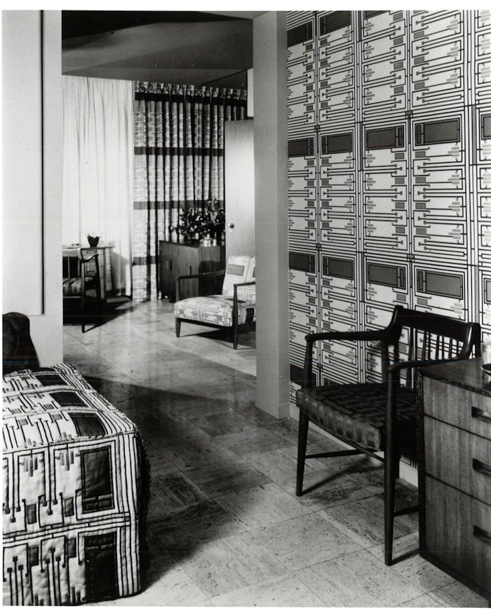 Sur les murs Design 103, Taliesin Suite 1955