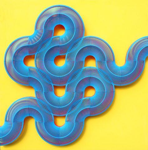 """Système de parois en nylon  modulaires """"Entangle"""" imprimé en 3D design Lynne MacLachlan"""