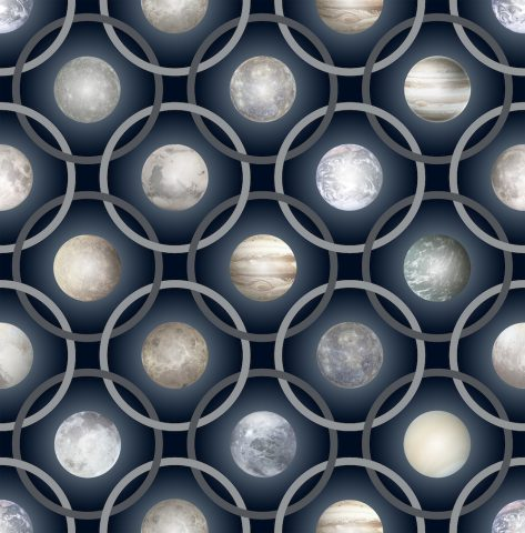 Tapis en laine Planets galaxy par Marcel wanders pour Moooi