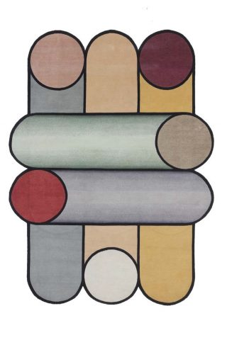 Tapis Rotazioni laine et soie par Patricia Urquiola pour cc-tapis