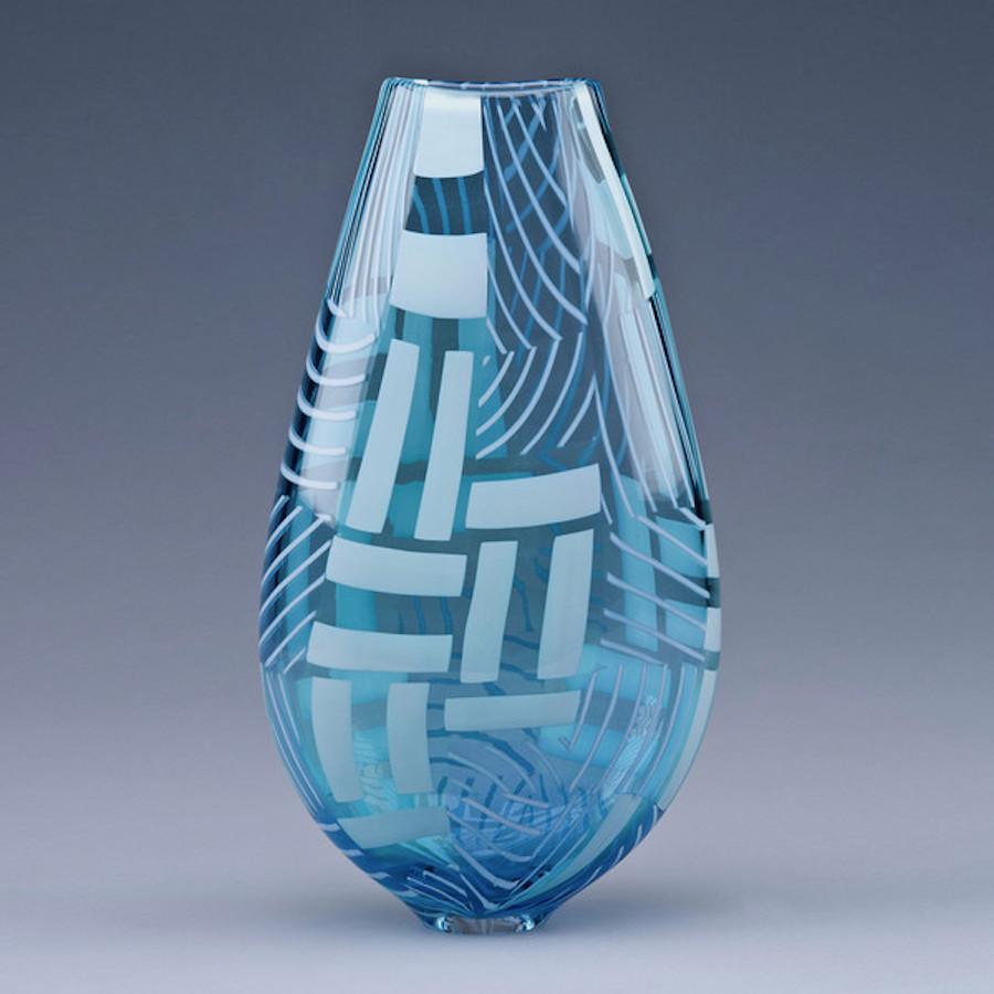 Vase Tapestry en verre design Scott Benefield Galerie Vessel
