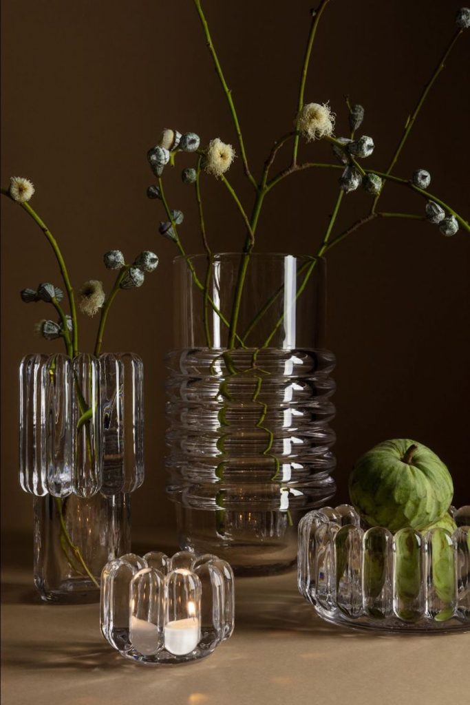 Vases Press en verre épais industriel design TOM DIXON