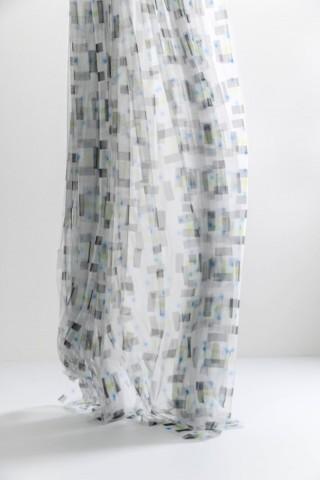 Voilage polyester en tulle Coop DPS,  Zig Zag Zurich